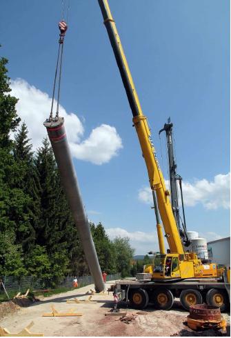 Installation eines HEP auf einer Baustelle
