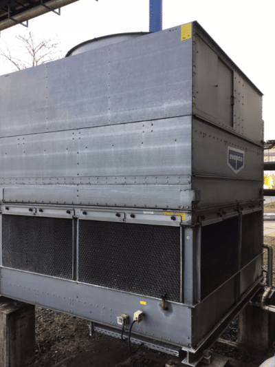 Bild eines Kühlturmes bzw. Verdunstungskühlanlage