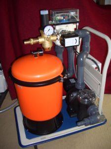 Mobiler Sandfilter zur Filtration in der Wasseraufbereitung