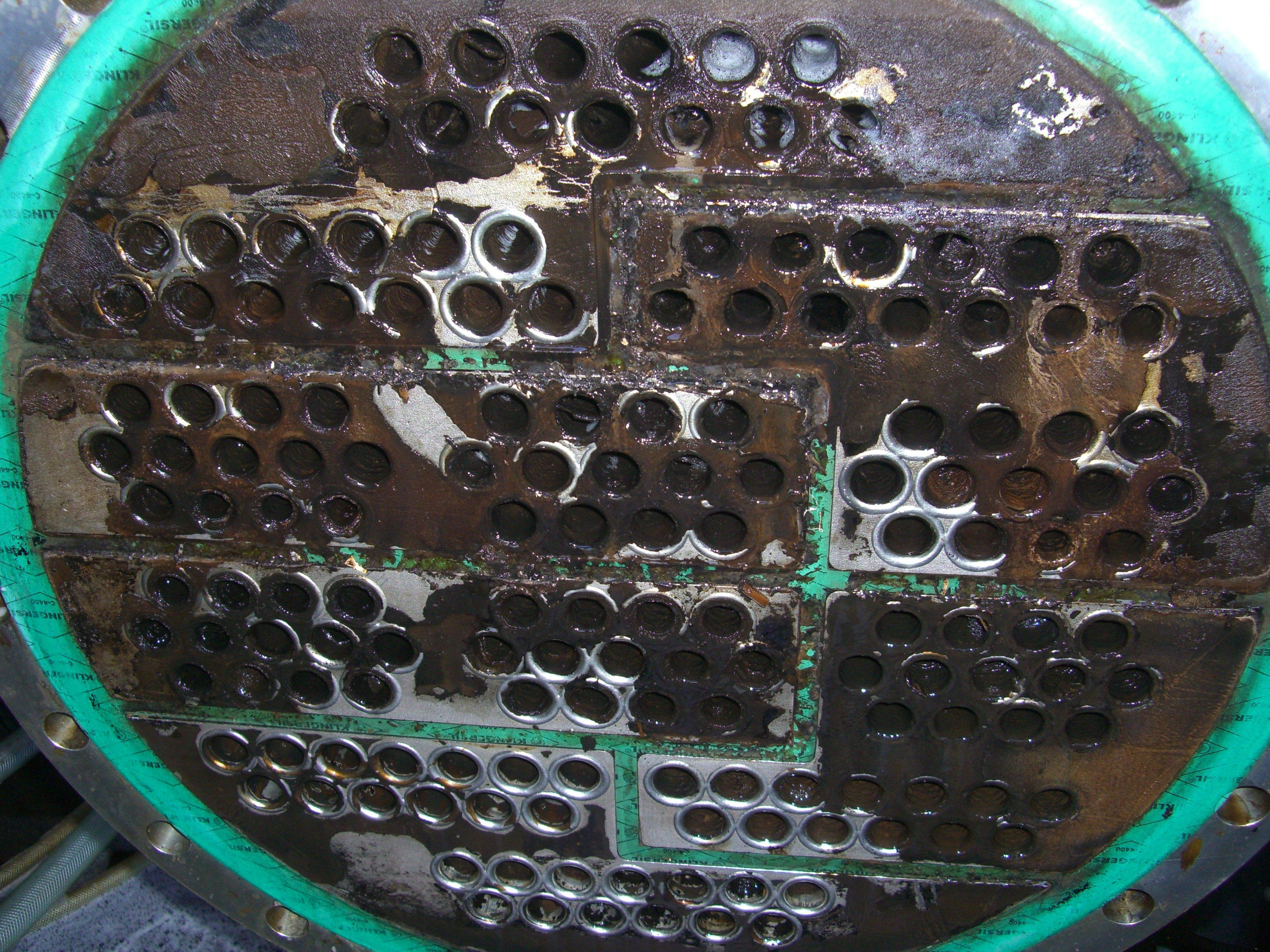 Ablagerungen auf einem Rohrbündelwärmetauscher