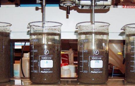Testreihe von Koagulierungsmitteln