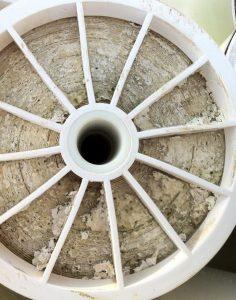 Kalk auf der Membrane einer Umkehrosmoseanlage