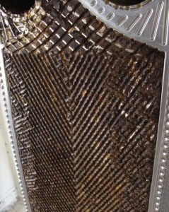 Ablagerungen auf einem Plattenwärmetauscher