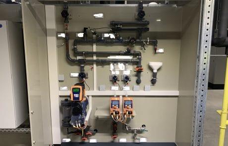 MSR Technik im Bypass eines Kühlturms